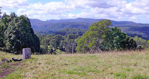 The view at Tuntable Creek which will be obscured if the proposed police telecommunications tower is constructed on this site.