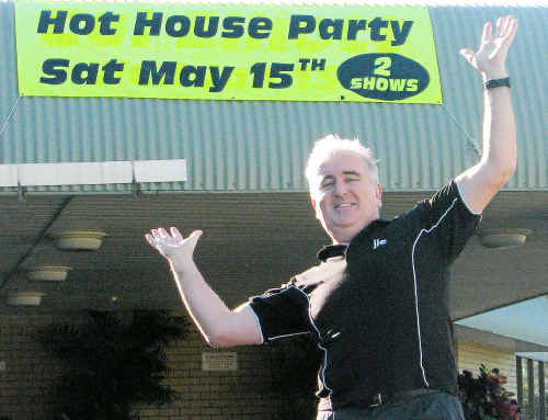 Get in quick: Hot House Party organiser John Logan is reminding partygoers to get in and buy tickets for the Hot House Party before the night.