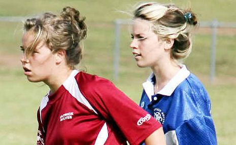 Shandelle Doro (left) will play for the Warwick ladies tomorrow at Queens Park.