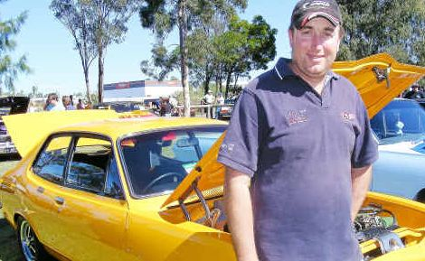 Flash ride: Ross Whitton with his 1971 Torana LC GTR.