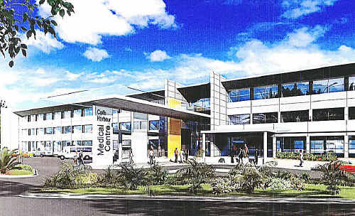 An artist's impression of how the new medical centre will look when completed. submitted