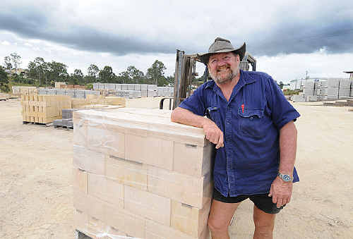 Busy day: Gympie Blockworks' Ray Salmon reflects on his first really busy day for many months, the company's closing down sale.