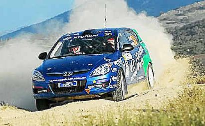 Rally Hyundai driver Mick Gillett and Harvey Smith are ready for the Coffs Rally.
