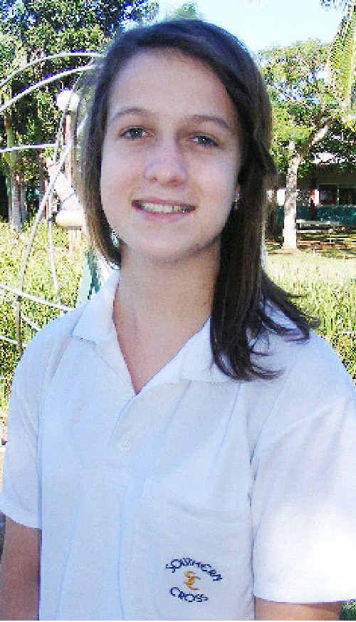 National honour: Southern Cross School K-12 Leo Club member Melanie Loomes has won the national Leo of the Year award.