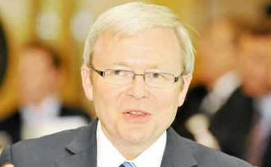 Not happy Kev: Prime Minister Kevin Rudd has been attacked by Member for Cowper Luke Hartsuyker for a 'big-spending' Budget.