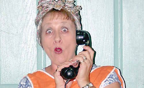 Wendy Farenden as Mrs Piper in the KATS production of Busybody.