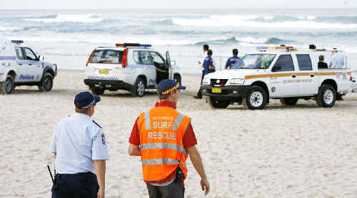Police will decide today whether to resume the search for an American man feared drowned after disappearing while swimming at Suffolk Park Beach on Tuesday. Yesterday's search was called off about midday because of deteriorating oceans conditions.
