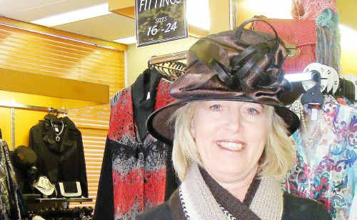 Debbie Neal from Classic Dimensions shows off some of the great hats.