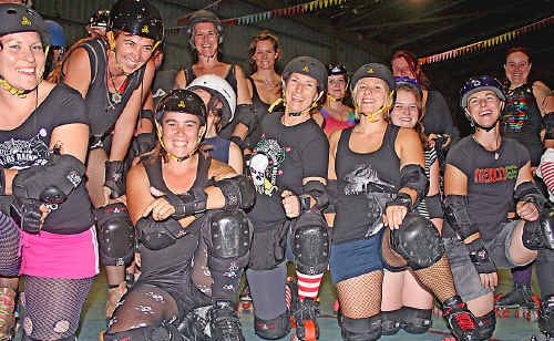 The Northern Rivers Roller Derby team is gearing up to launch the local league.