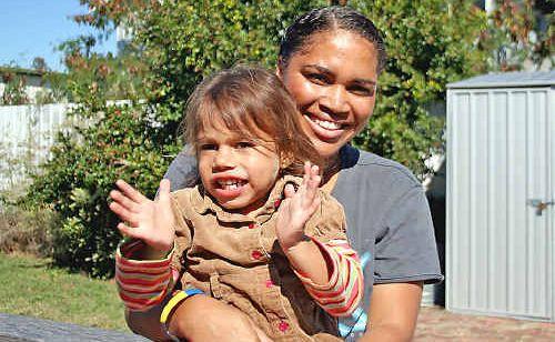 Gemika Tonga and her mum Gemma Roberts.