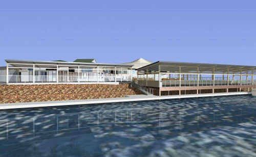 Computer generated image of how the lower deck at the Yamba Shores Tavern could look in November.