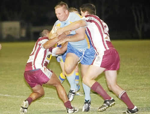 RUNNING HOT: Gympie Devils' Brad English in action against Kawana last weekend. The Devils face arch rivals Noosa at home today.