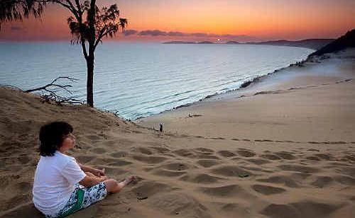 The Carlo Sand Blow at Rainbow Beach.