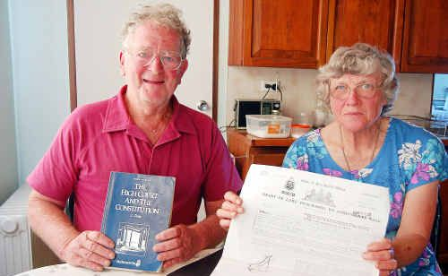 Terry and Claire Martin of Dorrigo are refusing to pay their rates to Belingen Shire Council.