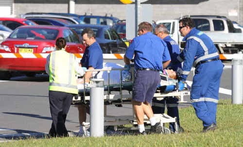 A man received serious injuries in a smash at Upper Orara when his trail bike collided with a Nissan Patrol.
