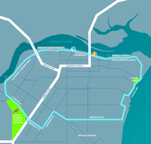 The original plan for the Bluewater trail