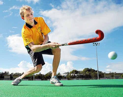 Newly appointed hockey development officer Reece Edwards.