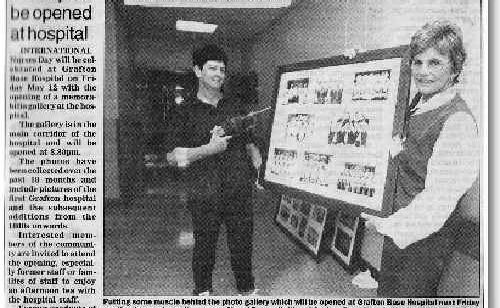 How The Daily Examiner reported the opening of the gallery.