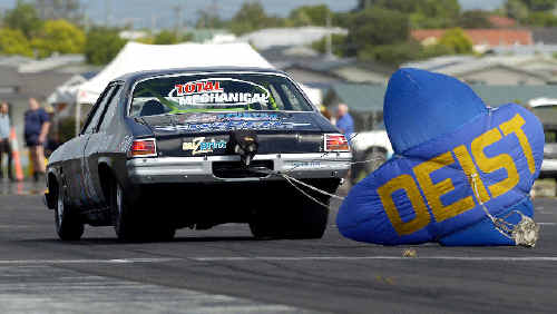 Action from the first Summerland Drags meeting at Casino in February.