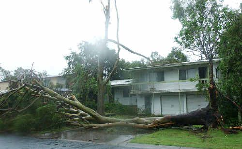 Cyclone Ului hit the Whitsunday mainland as a category two cyclone and far weaker category-one winds damaged Mackay.