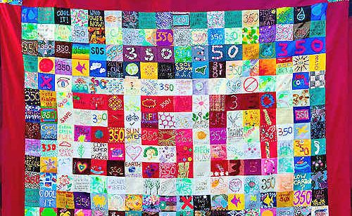 The 350 climate quilt.