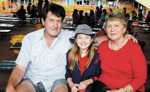 Alstonville Public School student Abbie Wright, 11, shared lunch with grandparents Ken and Lola Weekes during Grandparents' Day.