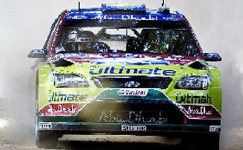 Finnish rally driver Mikko Hirvonen, winner of the 2009 WRC Repco Rally in his Ford BP entry.
