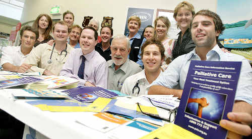 Tweed support: Staff at Tweed Hospital come together for Palliative Care Week.