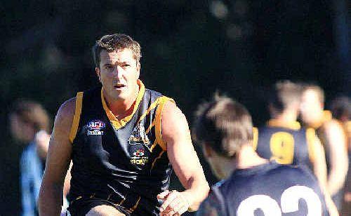 Full forward David Round keeps the Tweed Coast Tigers on the prowl against Byron.