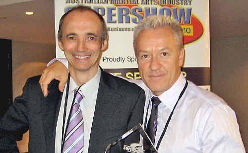 Richard Marlin (left) with Fari Salievski.
