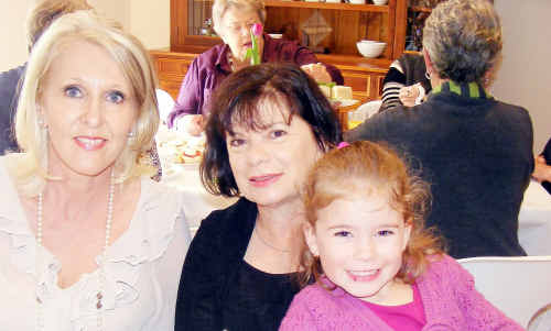 Debbie Peel, Rosa and four-year-old Bridget Hardy.
