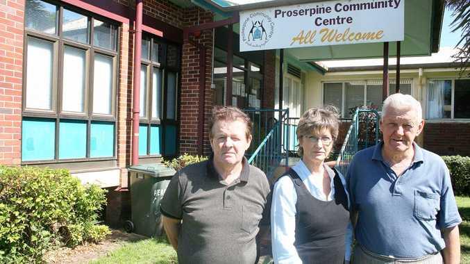 Proserpine Community Centre Association is facing closure. Commitee member Ken Hughes, Community Centre Coordinator Lynn Fenton and Col Mengel.