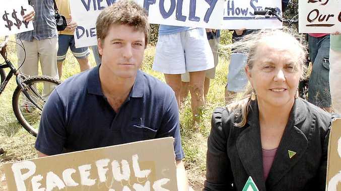 A file photo of Ballina Shire councillor Jeff Johnson and NSW Greens MP Lee Rhiannon