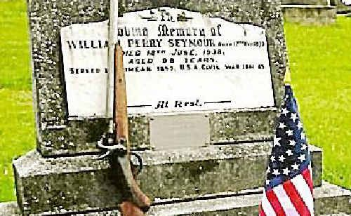 Private William Perry Seymour's gravesite at Tweed.