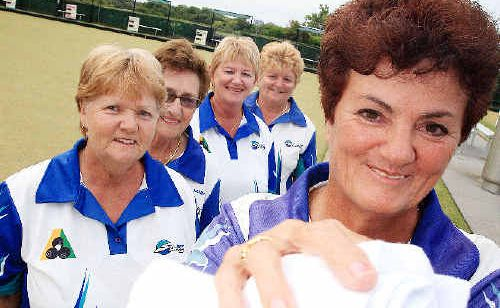 Sally Hickman (front), June Munn, Norma Munns, Ellen Joselin and Jenny Blyth will represent South Tweed Sports Club at the $10,000 Ladies Black Douglas Singles.