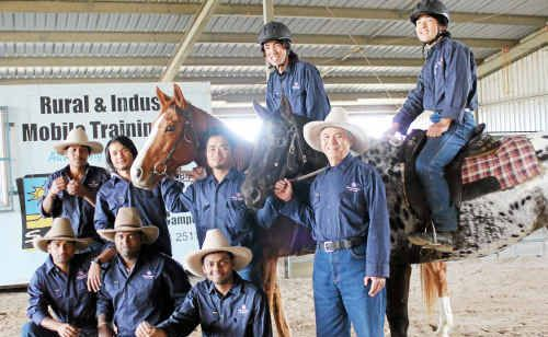 SQIT's jackeroo school has taught Ali Khanullah (right on horse) the ways of the Australian bush.