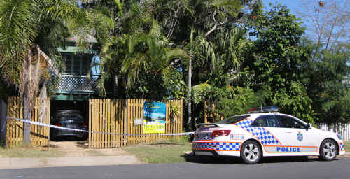 An address in Spring Street, Yeppoon, where a seven-week-old girl died in an accident on Saturday.