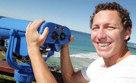 Whales ahoy: Watersports Guru director Tim Jack Adams says whale season has begun.