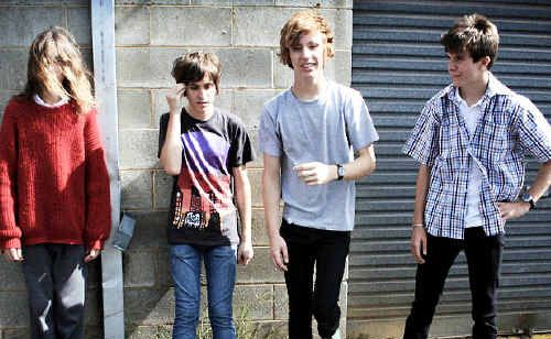 OFF THE PLANET: Triple J Unearthed High finalists and Alstonville High Year 12 students (from left) Sam Speck, Ben Hannam, Cameron Holdstock and Daniel Muszynski, of the band Glass Towers.