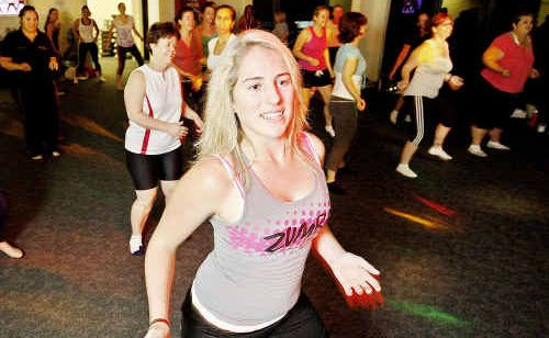 The latest fitness craze Zumba has hit Waterworx Aquatic Lifestyle Centre at Springfield, lead by Zumba instructor Emma Sansby.