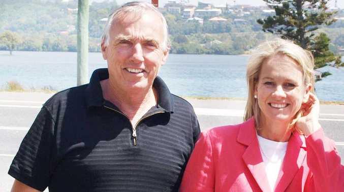 Alan Hunter with Nationals Senator Fiona Nash.