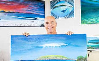 Hello world: Wayne French and his three pieces to be sent to the US for permanent exhibition.