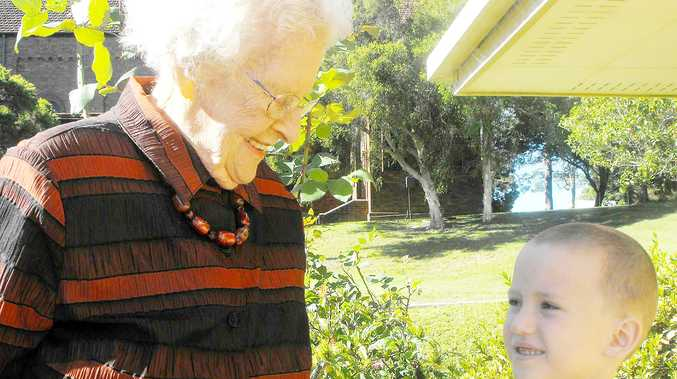 From the oldest to the youngest – Marge Buckley is the oldest living ex-student of St John's and Bud Smith is in kindergarten, and both are looking forward to the school's centenary celebrations on the long weekend.