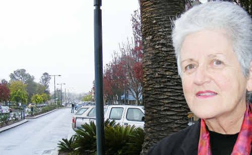 Barbara Payne doesn't believe she should have to contend with trucks when manoeuvring along Palmerin Street.