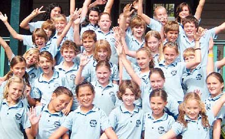 Members of the Byron Bay Public School choir who are off to the Opera House.