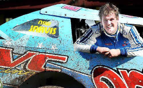 HOME GROWN: Allan Jarvis, who had a memorable end to the speedway season after a bad crash at Maryborough.