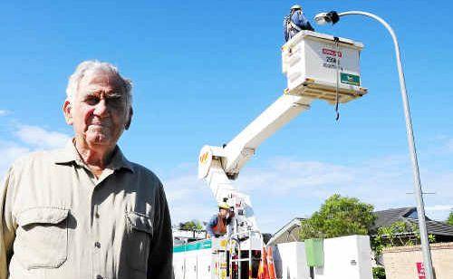 Claude Hillsley wants powerlines to run underground.