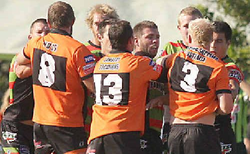 Players from the Jets and Tigers will lock horns again this afternoon following a fiery grand final win by Southport last season.