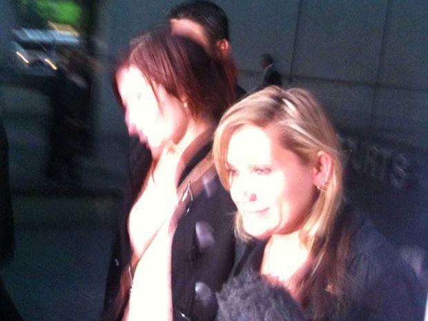 Susan Falls leaves court.
