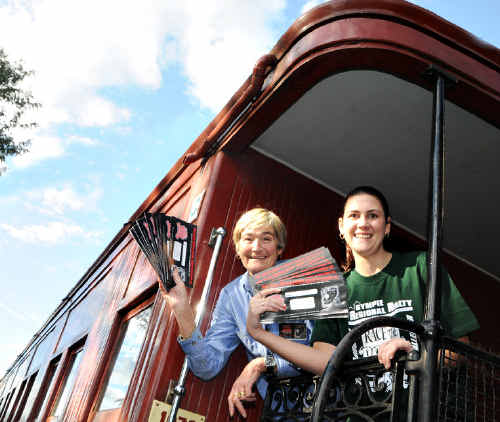 Mary Valley Heritage Railway's Lesley Stilgoe and Camilla King are hopeful of a record number of entries for this year's Race the Rattler.